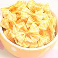 레모나,하트쏠라씨용 체크미니리본(노랑)-10개